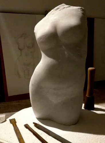 Limestone Carving - Rosby